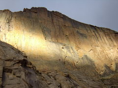 Rock Climbing Photo: Diamond in the morning light.  Sunday August 8th 2...