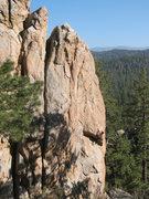 Rock Climbing Photo: Public Hanging (5.11c), Holcomb Valley Pinnacles