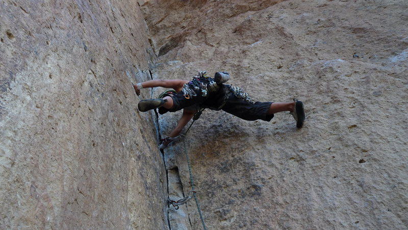 Rock Climbing Photo: Stemming on MD
