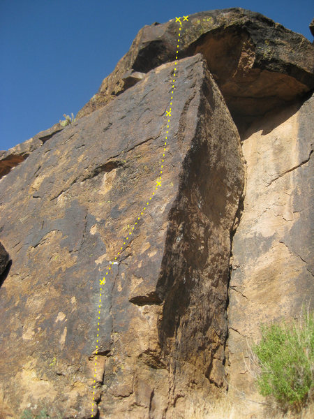 Rock Climbing Photo: Silly Putty (5.10b)