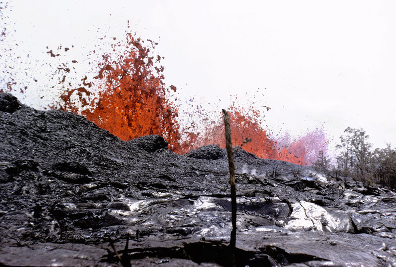 Rock Climbing Photo: 1969 eruption.