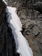 Rock Climbing Photo: West Ridge Couloir in early August '10; starting t...