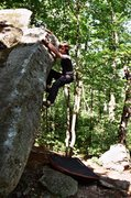 Rock Climbing Photo: Another fun traverse along the lip on the side of ...