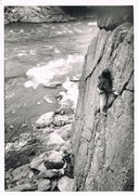 Rock Climbing Photo: Unnamed climbers on Romeo's Ladder. Photo circa 19...