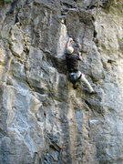Rock Climbing Photo: Jeff Jones approaching the top of Vomit.  Photo by...