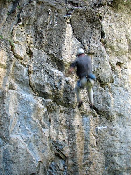 Rock Climbing Photo: Jeff Jones, rapidly receding from the top of Vomit...