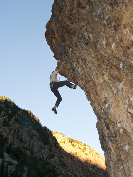 Rock Climbing Photo: Tenesmus well beyond the sound barrier.