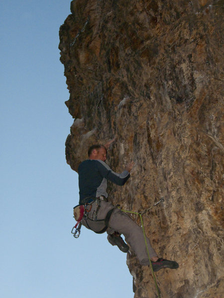 Rock Climbing Photo: Mike keeping chill...