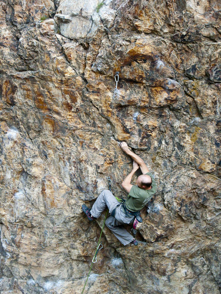Rock Climbing Photo: Mike's twisted beta...