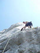 Rock Climbing Photo: the delicate traverse right...