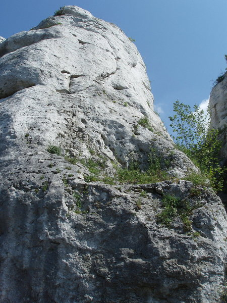 a nice view of the upper part of the route
