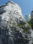 Rock Climbing Photo: a nice view of the upper part of the route