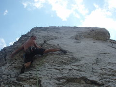 Rock Climbing Photo: looking up the route