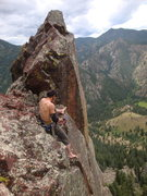 Rock Climbing Photo: We rapped off the third fin with a 60m, after Gonz...