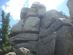 Rock Climbing Photo: North end of South Corner.  Zoom in and you can se...
