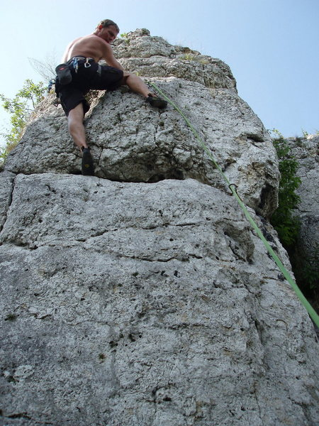 Rock Climbing Photo: almost up