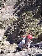 Rock Climbing Photo: Jordan coming up