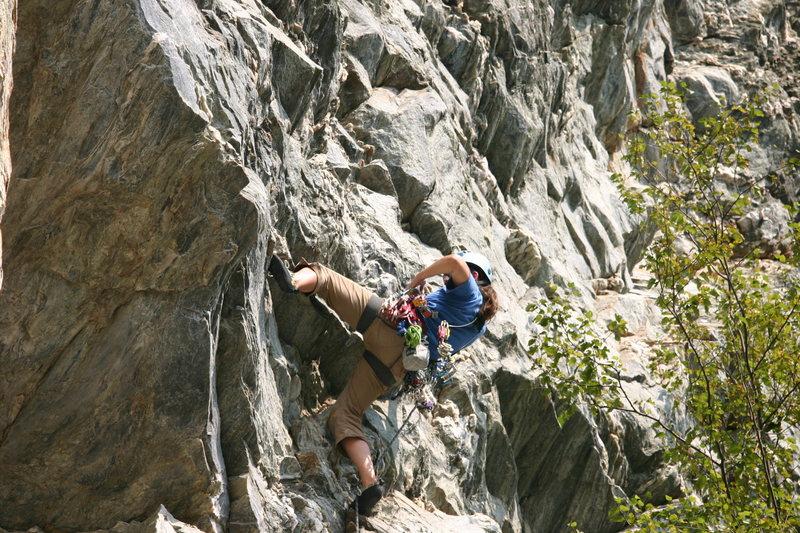 Rock Climbing Photo: Gearin' up