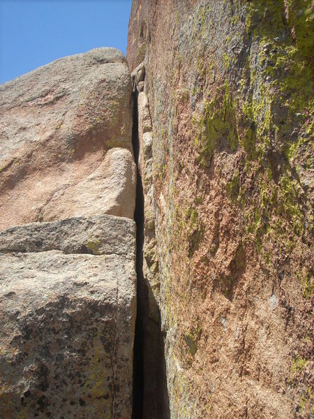 Rock Climbing Photo: The top of Slit.