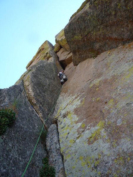 Rock Climbing Photo: Approaching the roof.