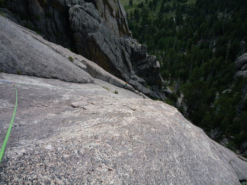 Rock Climbing Photo: The long second pitch.