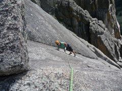 """Rock Climbing Photo: """"A bit slabby""""."""