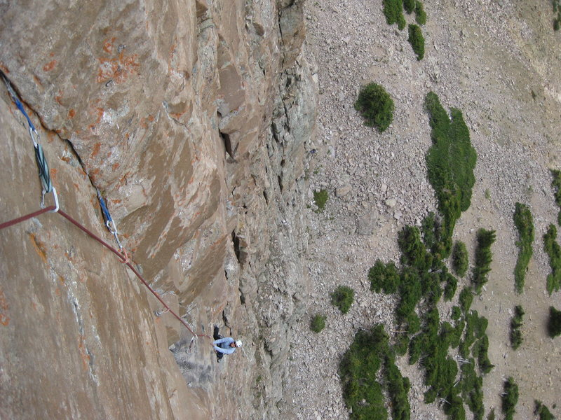 Rock Climbing Photo: 3rd pitch of Up the Irons 5.11, 4 pitches. Iron Ha...