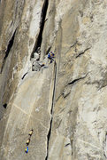 Rock Climbing Photo: Hauling to Hollow Flake ledge, photo: Tom Evans