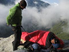Rock Climbing Photo: Morning on El Cap Spire - photo: Ian McEleny