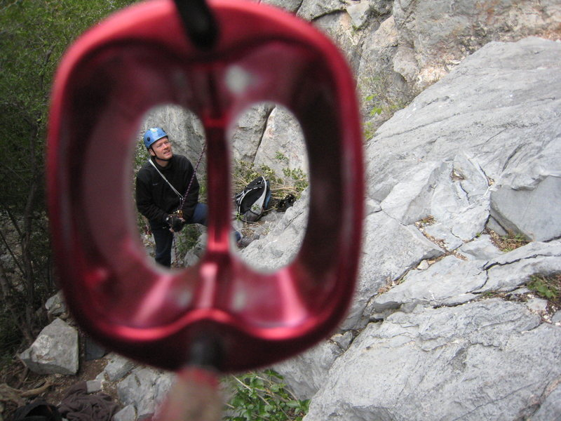 Rock Climbing Photo: Framed by ATC