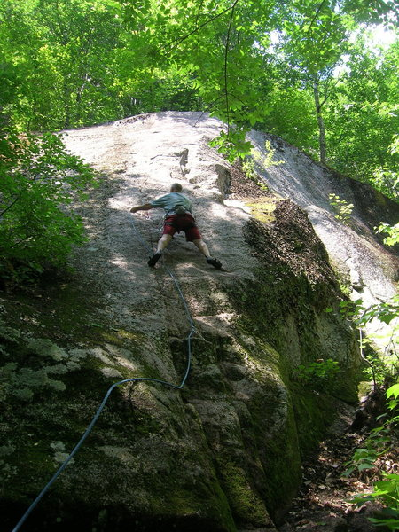 Rock Climbing Photo: Chris Graham making the clip on AP Treat, Cathedra...
