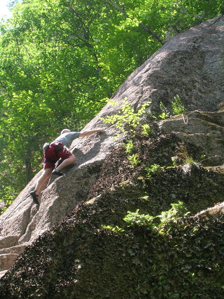 Rock Climbing Photo: Chris Graham moving up to the undercling. AP Treat...