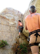 Rock Climbing Photo: This is one of the easy routes on the Kern Boulder...