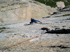 Rock Climbing Photo: Bert is following the spicy 5.10b pitch on Spear M...