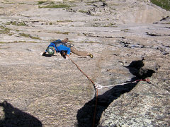 Rock Climbing Photo: Bert is following the fun knobs above the roof on ...