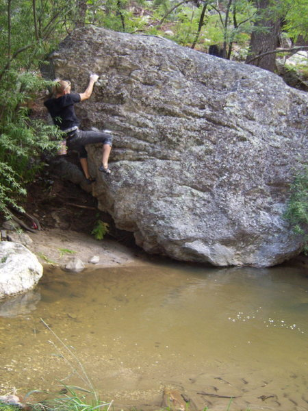 Bouldering by the stream...upper mountain