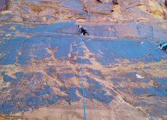 Rock Climbing Photo: susannah on a slab up kane creek