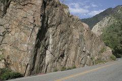 Rock Climbing Photo: Cam starting the business.