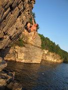 I like to pull on rocks!