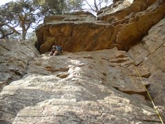 Rock Climbing Photo: This route has the same start as Cashmere, but tra...