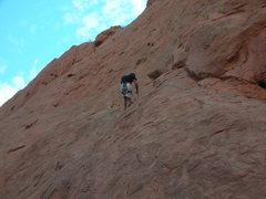 Rock Climbing Photo: Finger traverse