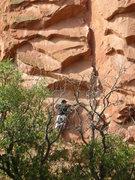 Rock Climbing Photo: Start of 1st Crecent Corner lead
