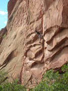 Rock Climbing Photo: quick look at the end of the route