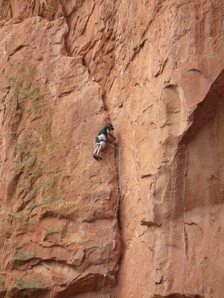 Rock Climbing Photo: One more move to the finsih