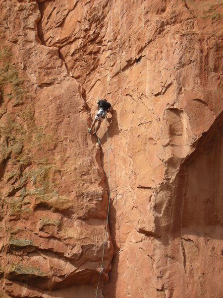 Rock Climbing Photo: Red Point and taking a phone call