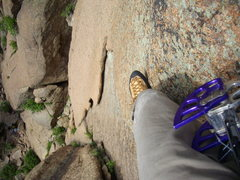 Rock Climbing Photo: Looking down pitch 1 right before belay.
