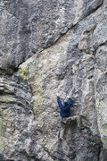 Rock Climbing Photo: Just starting on the flake to the right below the ...