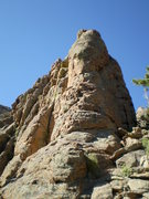 Rock Climbing Photo: The blunt, SE arete.  Pebbles starts just around t...