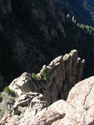 "Rock Climbing Photo: Looking down on the ""top"" of Trundle wal..."