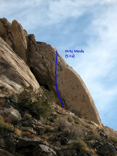 Dirty Minds (5.11a), Joshua Tree NP<br>